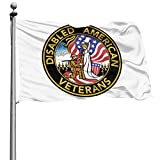 WJZ United States DAV Disabled American Veterans Garden Flag Home House Flags Outdoor Flag 4X6 USA Flag US Flag Foot Banner 35 Flags