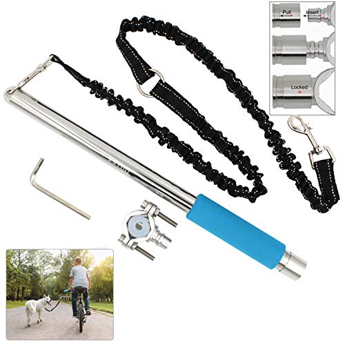 ODIER Bike Dog Leash Quick Release Bicycle Dog Exerciser Leash 500-lbs Pull Strength