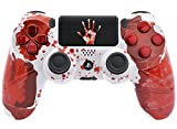 """Bloody Hands"" Ps4 Rapid Fire Custom Modded Controller 40 Mods for All Major Shooter Games, Auto Aim, Quick Scope, Auto Run, Sniper Breath, Jump Shot, Active Reload & More with CUSTOM TOUCHPAD"