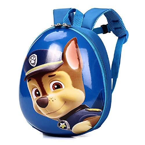 Mochila infantil dura CHDJ impermeable, bonita mochila para niños de preescolar con precioso dibujo de la Patrulla Canina