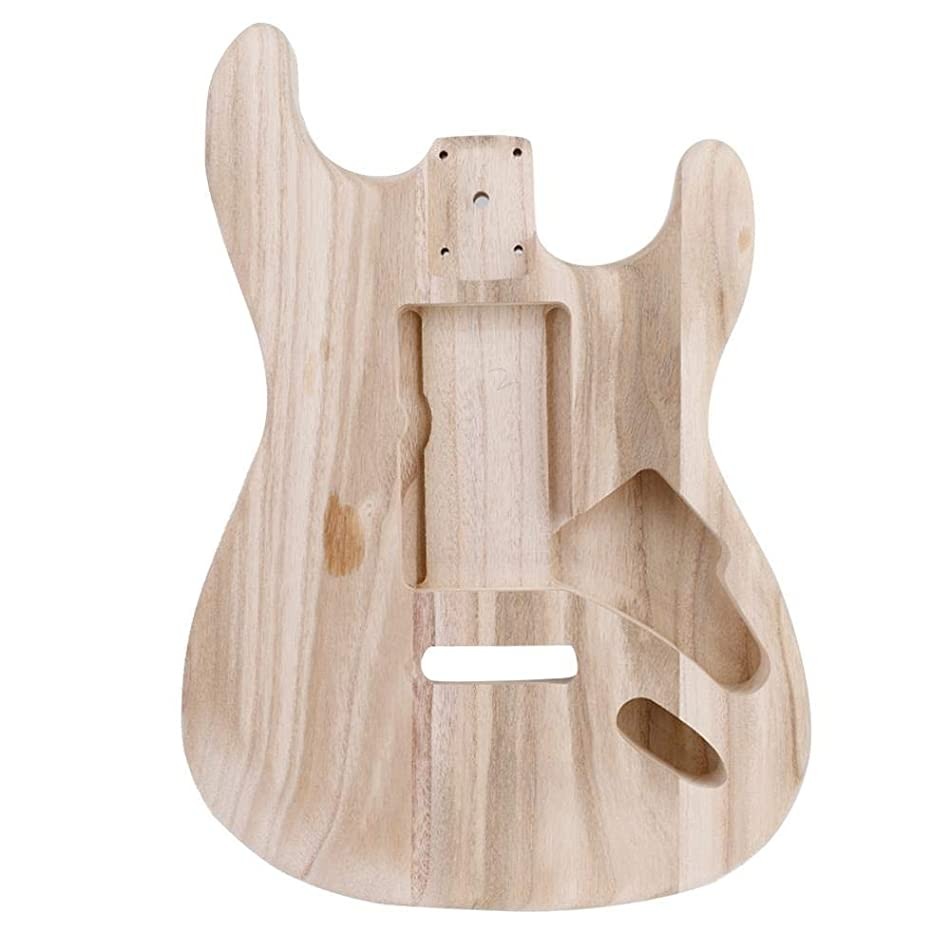 Unfinished Guitar Body, Acoustic Electric Guitar Semi-Hollow Body for Fender Strat ST Guitar DIY Parts