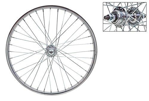 Wheel Master Rear Bicycle Wheel 20 x 1.75, 36H, Steel, Bolt On, Silver