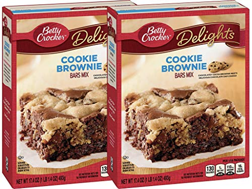Betty Crocker Baking Delights Cookie Brownie Bars Mix 17.4 Oz (Pack of 2)