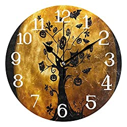Ernest Congreve Wall Clock Japanese Kimonos PatternsSilent Non Ticking Decorative Square Digital Clocks Quartz Battery Operated Square Easy to Read for Home/Office/School Clock 10 inch