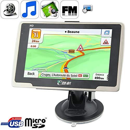 Navegador GPS CCI Serie E de 5,0 pulgadas de 800 x 480 píxeles de pantalla táctil TFT GPS Navigator con ranura for tarjeta micro SD, memoria de 8 GB y libre mapa, voz de soporte de difusión, incorpora