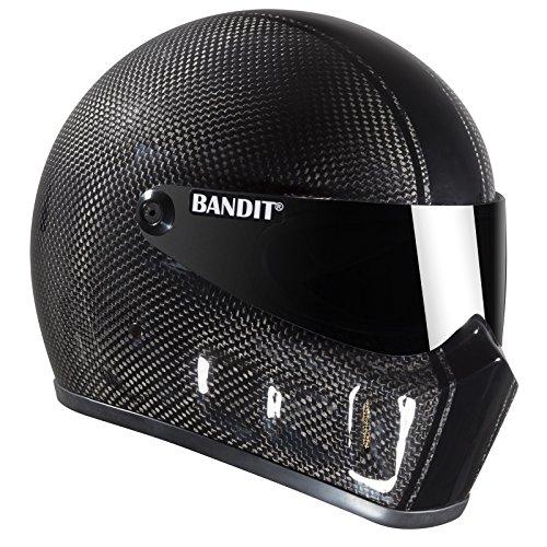 Bandit Super Street II Carbon,Fighterhelm,Motorradhelm,Gute Passform,neu, Größe:M(57-58cm), Sports-Farbe:Race Carbon