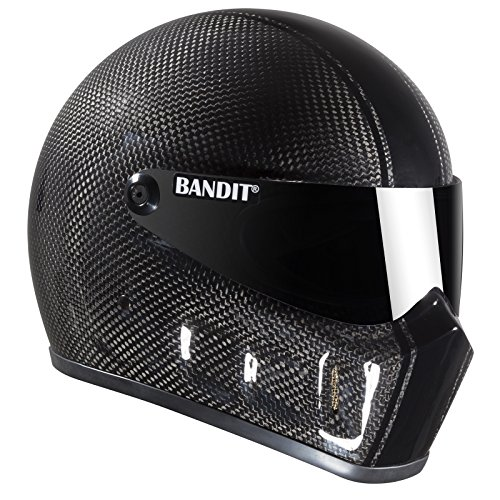 Bandit Super Street II Carbon,Fighterhelm,Motorradhelm,gute Passform, Größe:M(57-58cm), Sports-Farbe:race carbon