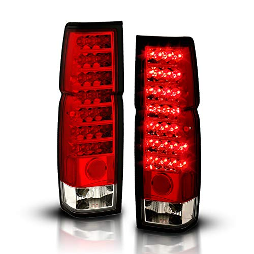 AmeriLite Red/Clear LED Tail Lights for Hardbody - Passenger and Driver Side