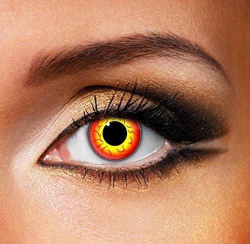 Funky Vision Kontaktlinsen - 12 Monatslinsen, Darth Maul, Ohne Sehstärke, 1 Stück