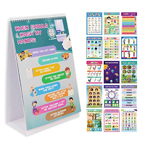 16 Preschool Learning Poster Board on a Stand Double Sided School Supplies Kindergarten Learning Activities Toddlers Daycare Teacher Classroom Decor Supplies Homeschool Pre K 17 by 11 in