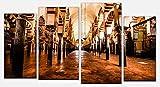 wandmotiv24 Cuadro en Lienzo La Gran Mezquita, Córdoba, España Opción 2-180 x 100 cm multiparte, Foto Lienzo, Mural M0814