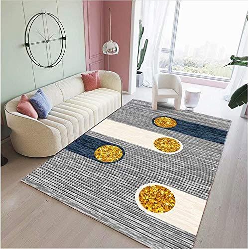 Kunsen Alfombra pequeña Dormitorio alfombras de plastico Dormitorio Sala de Estar Alfombra Gris Suave Estilo contemporáneo Rectangular alfombras niños 40X60CM 1ft 3.7' X1ft 11.6'