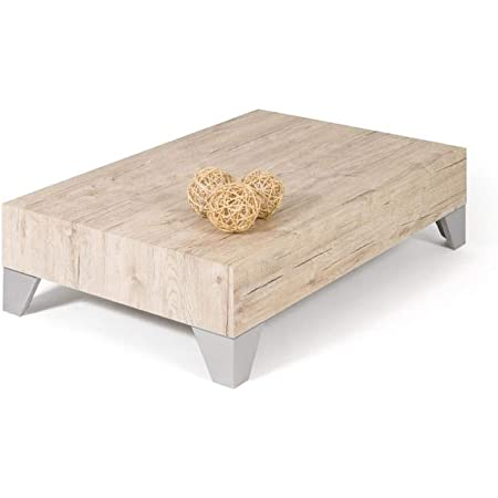 Mobili Fiver, Table Basse, Evolution 90, Chêne Naturel, 90 x 60 x 24 cm, Made in Italy