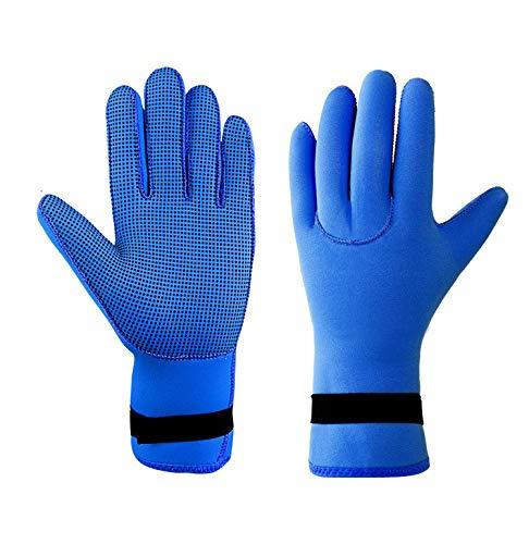 Guantes de Neopreno de Buceo de 3 mm Flexibles, utilizados para Snorkel, Buceo, Surf, Kayak, Rafting, Pesca, Vela (S,Azul)