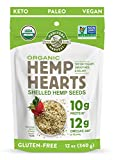 Manitoba Harvest Organic Hemp Hearts Shelled Hemp Seeds, 12oz; 10g Plant-Based Protein & 12g Omegas per Serving, Whole 30 Approved, Vegan, Keto, Paleo, Non-GMO, Gluten Free