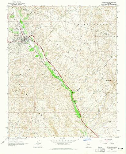 YellowMaps Wickenburg AZ topo map, 1:24000 Scale, 7.5 X 7.5 Minute, Historical, 1964, Updated 1965, 26.8 x 22 in - Polypropylene