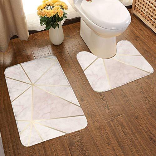 Qian Mu888 Alfombra de baño de franela suave y cómoda Zara Shimmer...