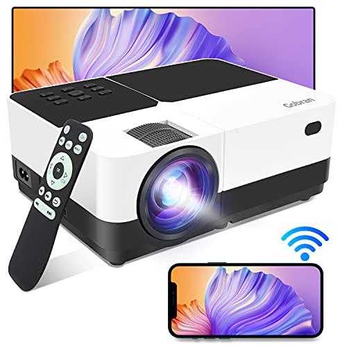 Proiettore WiFi Videoproiettore Supporta 1080P 6500 Lumen Condiviso Schermo Cellulare/Connessione Wireless,Proiettore Home Theater Adatto per Smartphone iOS/Android/Telecamere/PC/Console Gioco