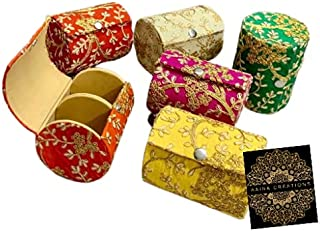 Aaina Creations Wood Jewellery Organizer | Bangle Box for Women (Multicolour, Pack of 6)