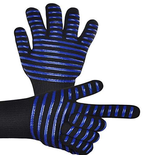 Gants de Barbecue pour la Cuisine avec Four /à Micro-Ondes Bleu Gants de Barbecue WenX Gants de Cuisine /à Haute temp/érature