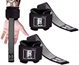 Weight Lifting Straps with Wrist Support - Best Wrist Straps for Weightlifting - Superior Deadlift Straps and Workout Wrist Straps for Deadlifting in Gym - Ideal Weightlifting Straps for Workout