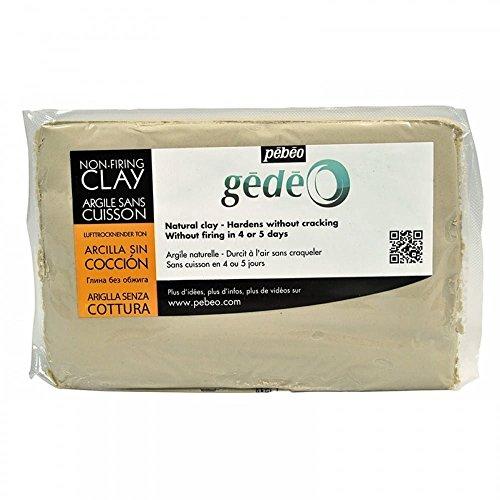 Pebeo 766302 Gedeo Ton ohne Einbrennen, 1, 5 kg Block, Grau