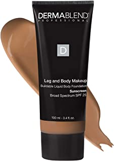 Dermablend Professional Leg & Body Makeup - Buildable Liquid Foundation - Dermatologist-Created, Fragrance-Free, Allergy-T...