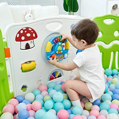 Baby Vivo Parc Bébé Barrière Securitè avec Porte Plastique Enfant Protection Grand Jeu...
