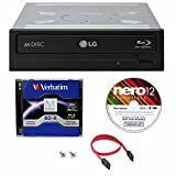 LG WH16NS40 16X Super Multi M-Disc Blu-ray BDXL DVD CD Internal Burner Writer Drive + Free 1pk Mdisc BD + Nero Software + Cables & Mounting Screws internal blu ray burner Jan, 2021