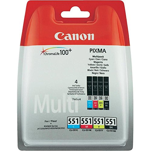 Canon CLI-551 C/M/Y/BK Multipack - 4-pack - svart, gul, cyan, magenta - original - bläckbehållare