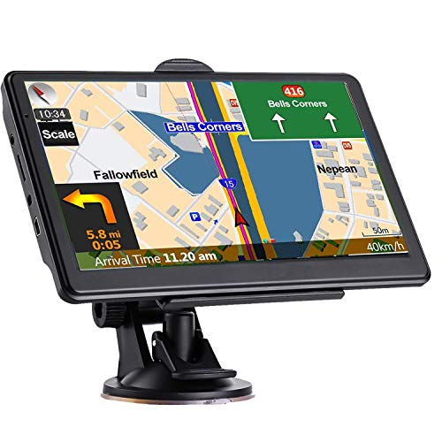 GPS Navigation for Car Truck, Latest 2021 Map Touchscreen 7 Inch 8G 256MB Navigation System with Voice Guidance and Speed ​​Camera Warning, Lifetime Free Map Update