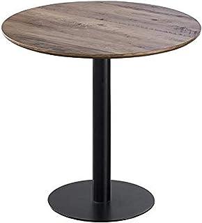 Zons Table Ronde avec Pied Central JOSUA pour Cuisine OU Salle À Manger, D80xH76 cm