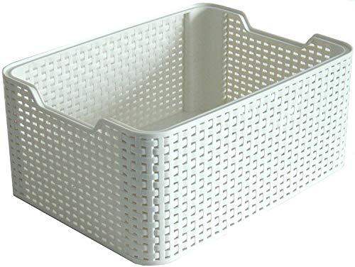 Curver Style, Caja Organizadora, Blanco Vintage, M (18 L)