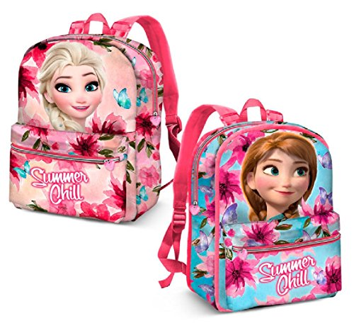 Karactermania Frozen Summer Chill-Reversible 2-in-1 Backpack Kinder-Rucksack, 40 cm, 13 liters, Pink