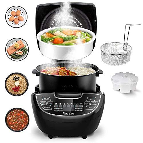 Elektrischer Multikocher 5L, Dampfgarer, Reiskocher, Slow Cooker, Eierkocher, 860W, Timer, Warmhaltefunktion, Rezeptheft