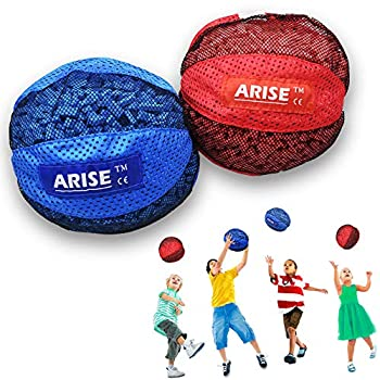Arise Sensory Foam Ball with EVA Pellet-Filled Set 8 Inch Outdoor Toy for Kid and Elderly Physical Therapy Light Weight Tactile Input Sting-Free Impact for Home Backyard Preschool 2 Colors