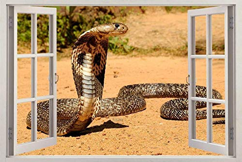 Wandtattoos Wandaufkleber Snake Reptile 3D Fenster Aufkleber Wandaufkleber Art Deco Wandbild Tier