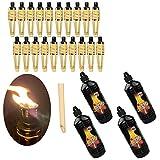 Moritz 20 antorchas de bambú Deluxe 90 cm estándar natural + 4 x 1000 ml de aceite para lámpara de jardín antorchas de aceite, decoración de jardín