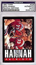 John Hannah Signed 1985 Topps Trading Card #326 - PSA/DNA Authentication - Autographed NFL Football Memorabilia