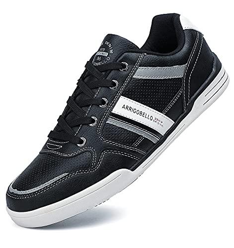 Zapatos casuales Hombres Entrenadores Clásicos Zapatillas Deportivas Multideporte Caminar Jogging Gimnasio Interior Exterior Zapatos Talla UK 7-11 (Negro)