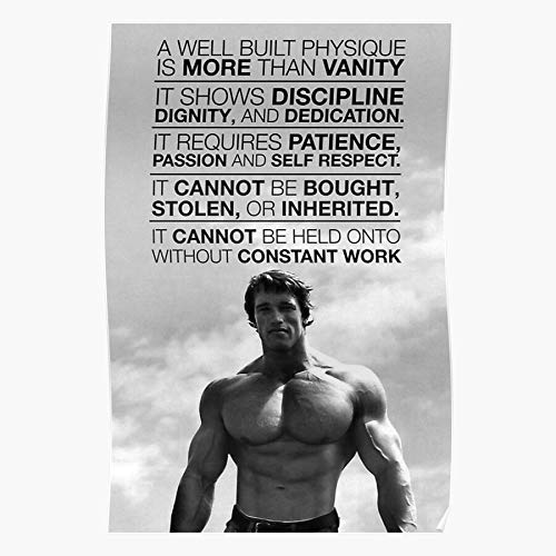 Training Fitness Quote Bodybuilding Arnold Fit Motivation Muscles Home Decor Wall Art Print Poster !
