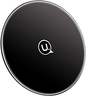 Wireless Charger USAMS US-CD55 Glass PC QI Wireless Charger 10W Fast Charging Pad (Black)