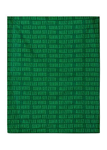 AS Saint Etienne hoeslaken voor tweepersoonsbed, officiële collectie, 140 x 190 cm