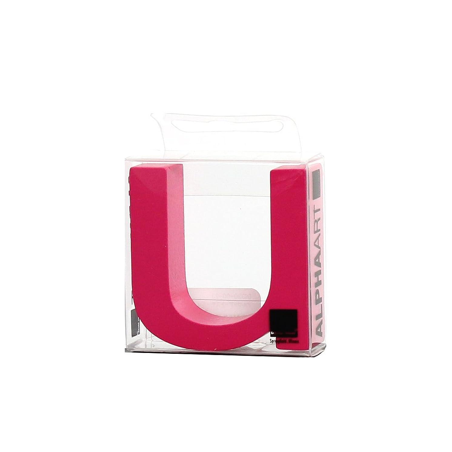 規則性許される希少性カメヤマキャンドルハウス アルファベットブロック カラフル  アルファアートスモールu 「 ピンク 」