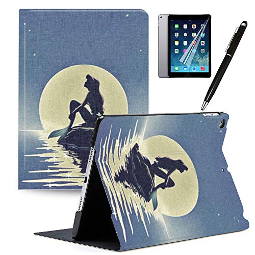 Y2PKZISTORE iPad Air 2 iPad Air Case, Mickey and Minnie Cute Cover PU Leather Stand Protection Smart Auto Sleep/Wake Shell for iPad 9.7 inch Case 2018 iPad 6th Generation 2017 iPad 5th Generation#C