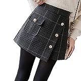 Pantalones Cortos de Primavera y otoño, para Invierno, para Mujer, de Cintura Alta, Bordado Casual,...