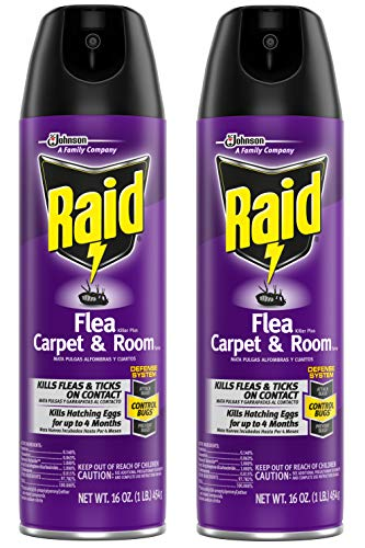 Raid Flea Killer Carpet and Room Spray, 16 oz (16 oz,Pack - 2)