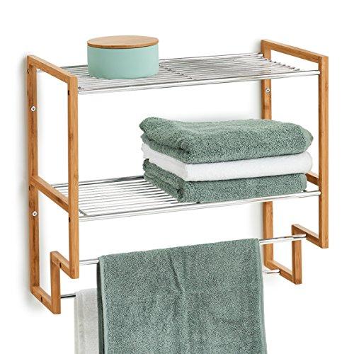 Zeller 18628 - Estantería para baño (bambú y Metal, 50 x 28 x 46 cm)