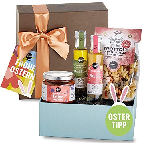 Ostern Geschenkbox - Gepp's Feinkost I Tolles Geschenk mit Delikatessen, hergestellt nach eigener Rezeptur I Ostergeschenk (A0023)