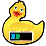 Duck Baby Bath Thermometer Card - Liquid Crystal Display